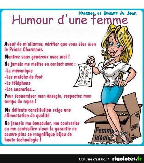 Humour D Une Femme Blagues Et Les Meilleures Images Droles