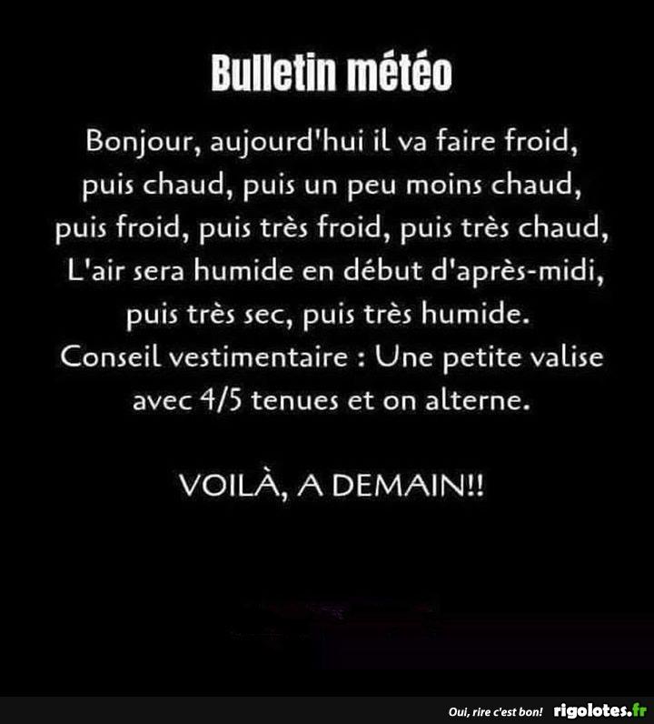 Bulletin meteo Bonjour, aujourd'hui... 20190614