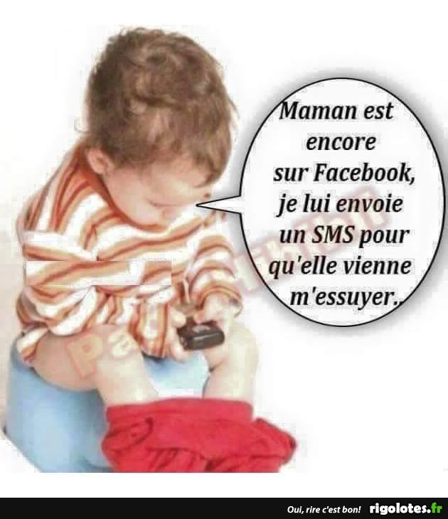 Maman Est Encore Sur Facebook Blagues Et Les Meilleures Images Droles